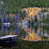 Bear, Lake, road, incredible, site, fall, peak, colors, perfect, reflection, capture