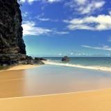 Hanakapi`ai, beach, two, mile, hike, Kalalau, trail, beautiful, island, Kauai, ocean