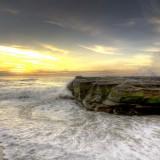 La Jolla, beautiful, beaches, in, California, low, high, tide, shot,