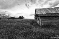 Wyoming, Barn, Black and White
