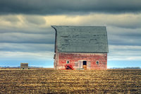 2014 Nebraska Calendar, old, red, barn, in, Nebraska, photography