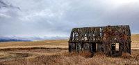 Wyoming, mountains, barn, barns