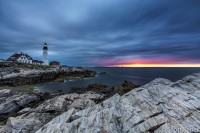 Lighthouse, Portland, Maine, Ocean, photograph, print,