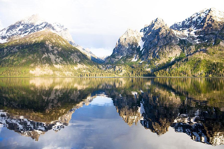 Wyoming, Lake, Mountains, photo