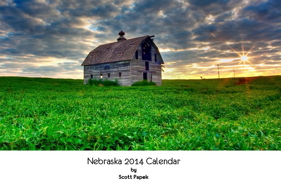 Nebraska 2014 Calendar by Scott Papek