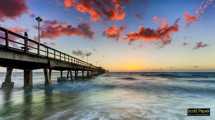 Ocean, Florida, Pier, photo
