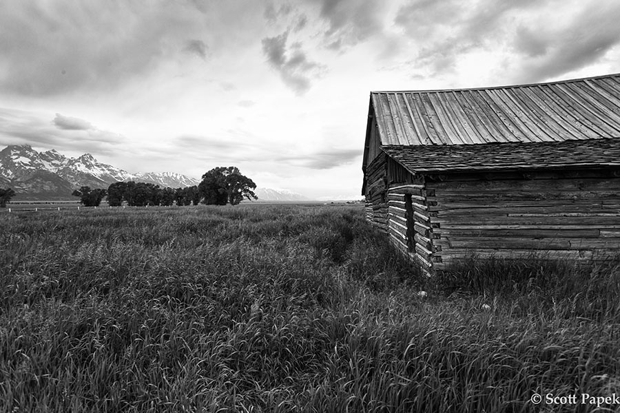 Wyoming, Barn, Black and White, photo