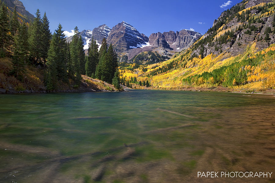 The Maroon Bells are located in the Maroon Bells-Snowmass Wilderness, (near Aspen), and are considered to be the most photographed...