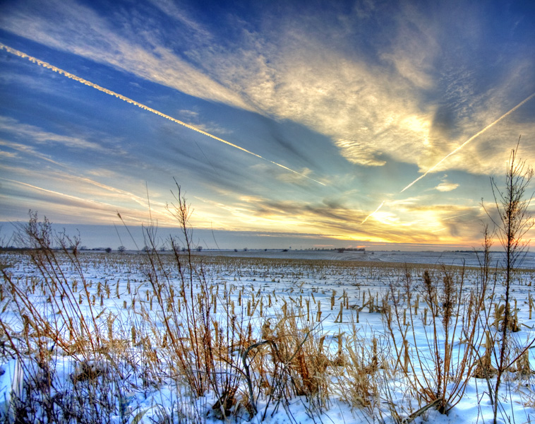 2014 Nebraska Calendar, winter, sunset photography, photo