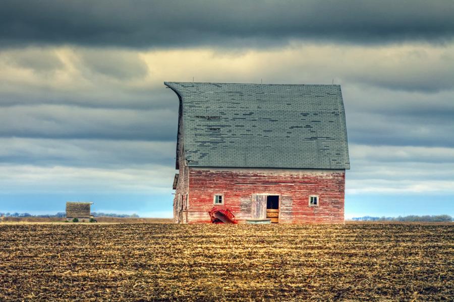 2014 Nebraska Calendar, old, red, barn, in, Nebraska, photography, photo