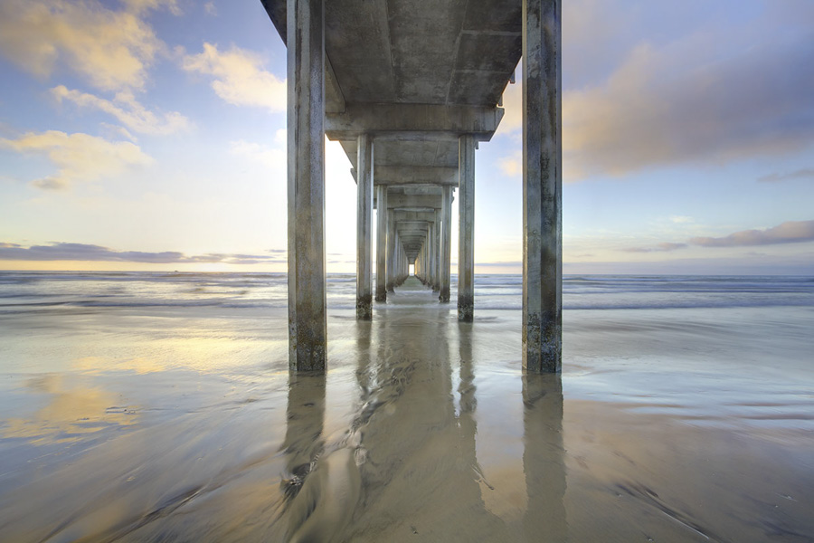 Scripps, Pier, Lajolla, California, Sun, Sand, Sea, ocean, photo
