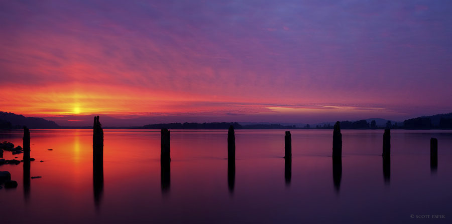 Tranquility,portland, oregon, columbia, gorge, river, beauty, wildfires, dusk, limited, edition, gallery, prints, photo