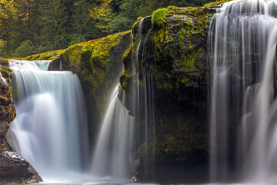 Lewis, River, Falls, Washington, photo