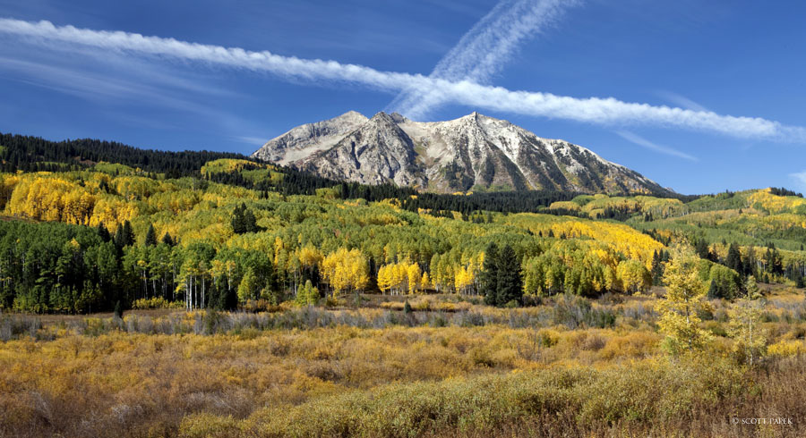 """""""Cross The Butte"""" was taken Ocotber 2012 outside of Crested Butte, Colorado. I was mesmerized with all the different colors and..."""