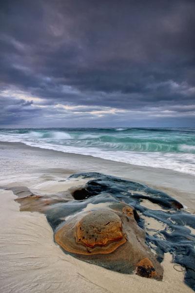 ocean, la jolla, san diego, wind, and sea, purple, blue, mystery, peacfull, color, california, Image, photograph,, photo
