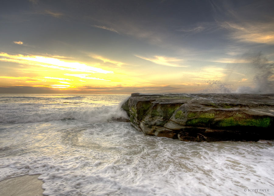 La Jolla, beautiful, beaches, in, California, low, high, tide, shot, , photo
