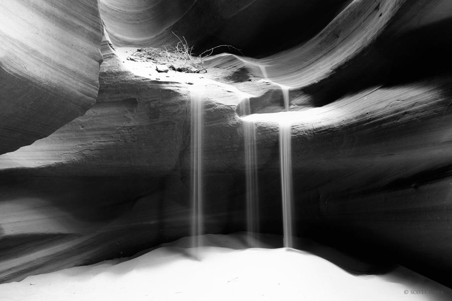 Antelope canyon symmetry upper long exposure sand zen